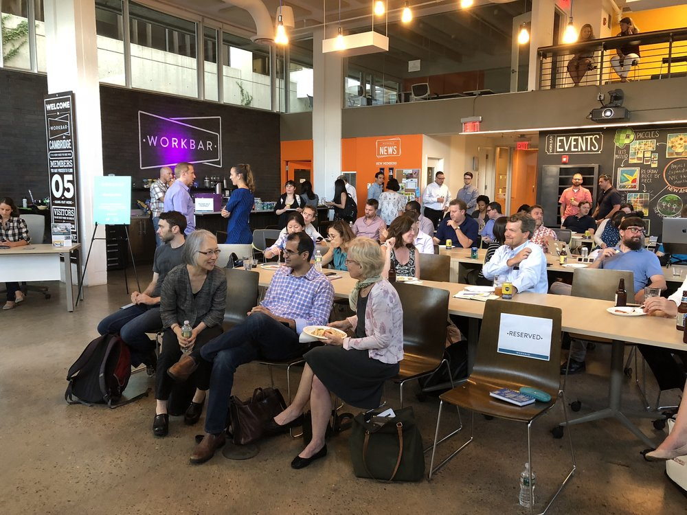 Boston Marketers at workbar event